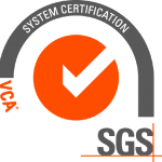 SGS VCA 1 star certification badge